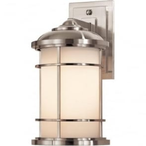 Lighthouse Medium Wall Lantern Brushed Steel