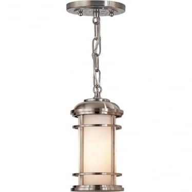 Lighthouse Small Chain Lantern Brushed Steel