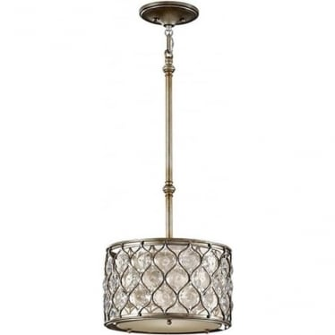 Lucia Pendant Burnished Silver