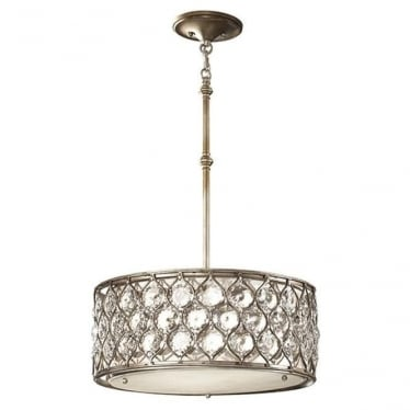 Lucia Pendant Chandelier Burnished Silver