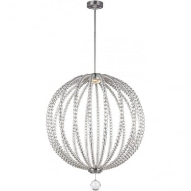 Oberlin Large LED Pendant Satin Nickel