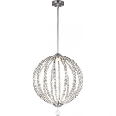 Oberlin Medium LED Pendant Satin Nickel