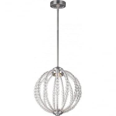 Oberlin Small LED Pendant Satin Nickel