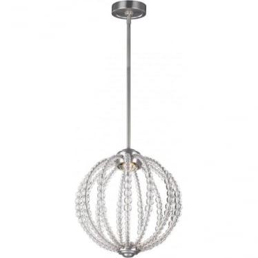 Oberlin Small LED Pendant Satin Nickel