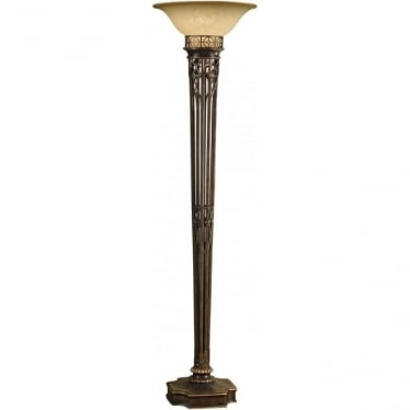 Opera Gold Torchiere Floor Lamp