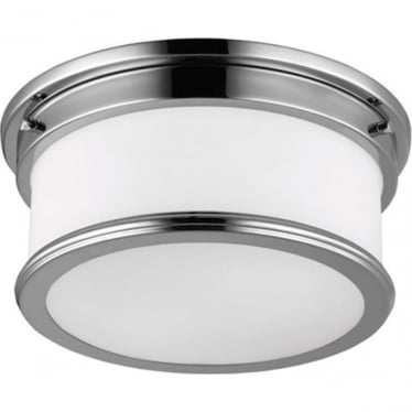 Payne Flush Mount Bathroom LED Light IP44 Polished Chrome