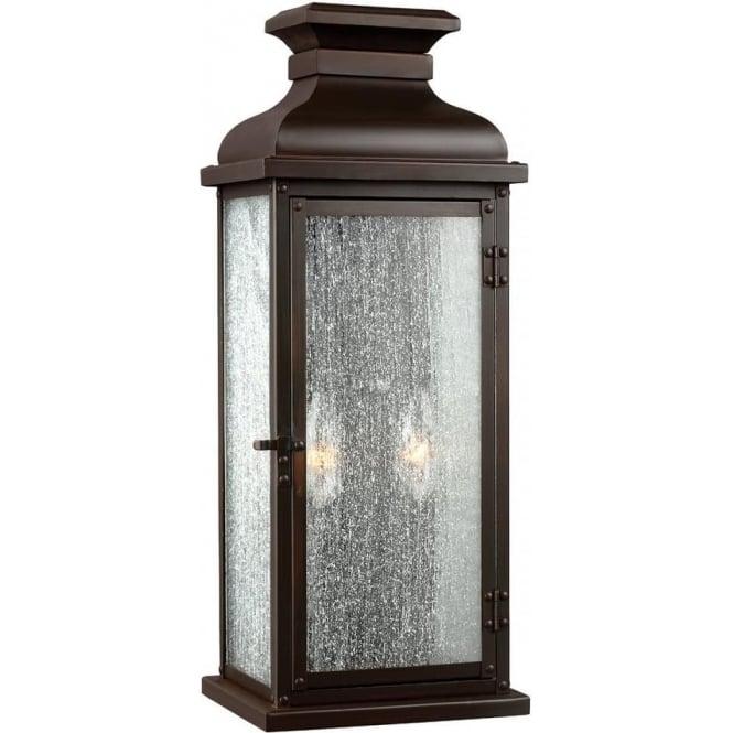 Feiss Pediment Medium Wall Lantern Dark Aged Copper