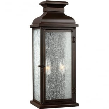 Pediment Medium Wall Lantern Dark Aged Copper