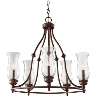 Pickering Lane 5 Light Chandelier Heritage Bronze