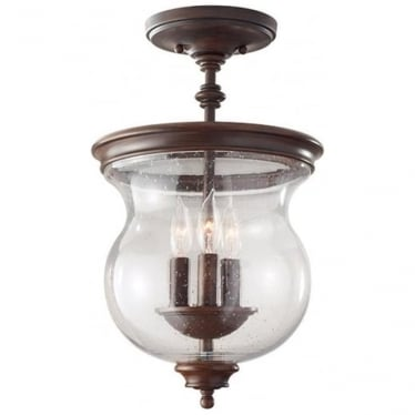 Pickering Lane semi- flush fitting/Duo-Mount Heritage Bronze