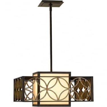 Remy 1 light Chandelier Heritage Bronze & Parisienne Gold