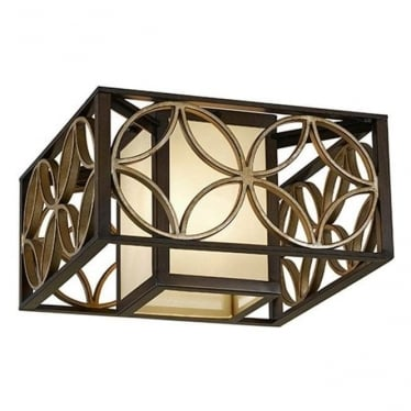 Remy Flush Mount Fitting Heritage Bronze & Parisienne Gold