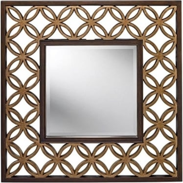 Remy Square Mirror Heritage Bronze & Parisienne Gold