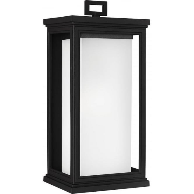 Feiss Roscoe Large Wall Lantern Textured Black