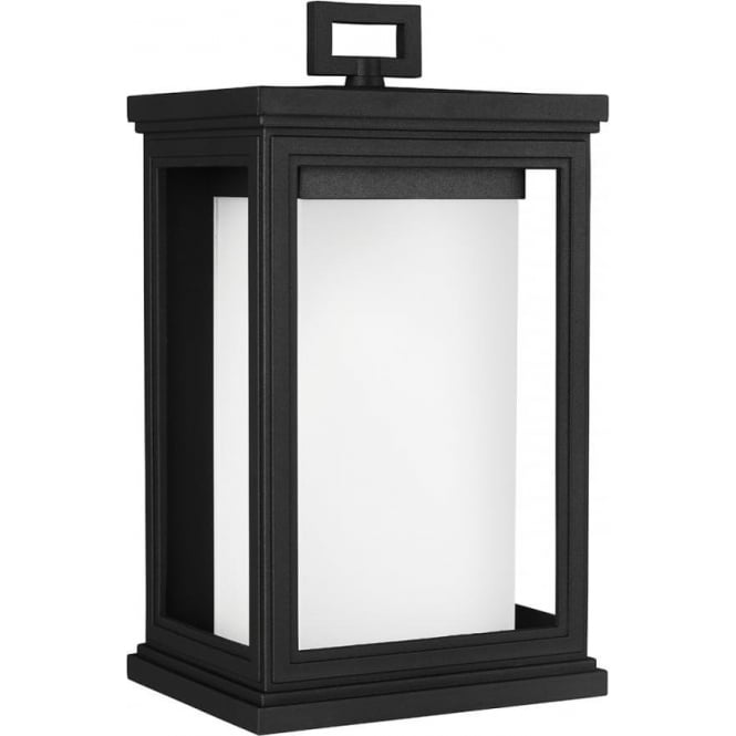 Feiss Roscoe Medium Wall Lantern Textured Black