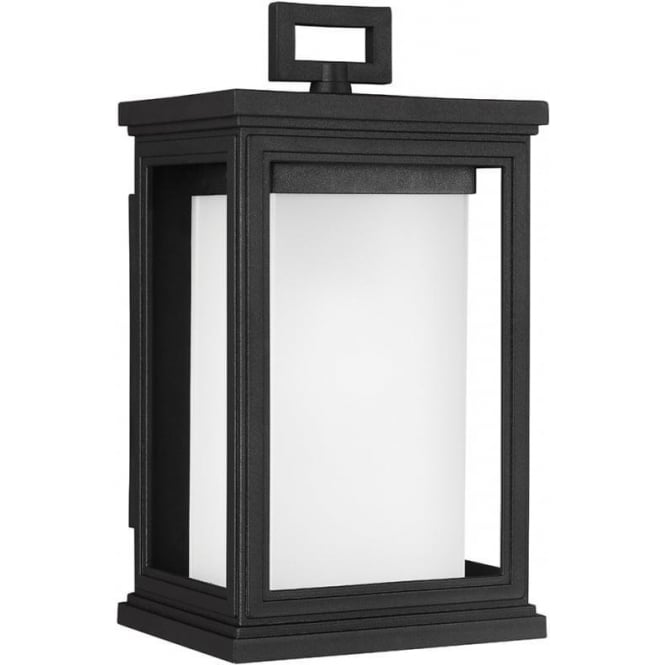 Feiss Roscoe Small Wall Lantern Textured Black