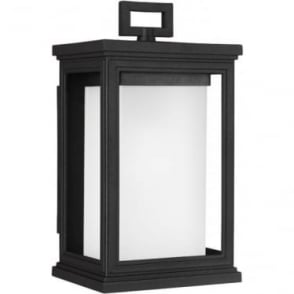 Roscoe Small Wall Lantern Textured Black