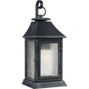 Shepherd Extra Large Wall Lantern Dark Weathered Zinc