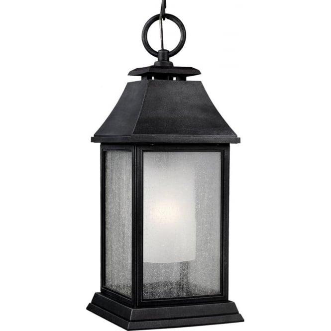 Feiss Shepherd Large Chain Lantern Dark Weathered Zinc