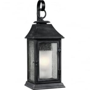 Shepherd Large Wall Lantern Dark Weathered Zinc