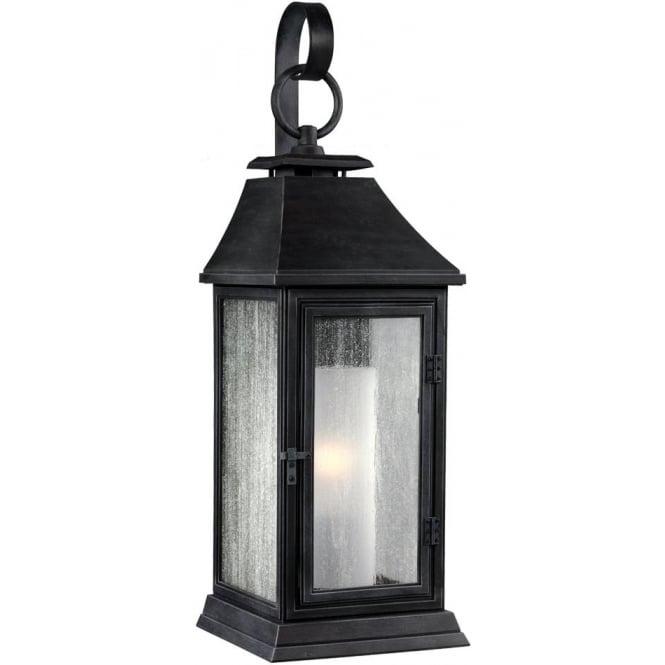 Feiss Shepherd Small Wall Lantern Dark Weathered Zinc