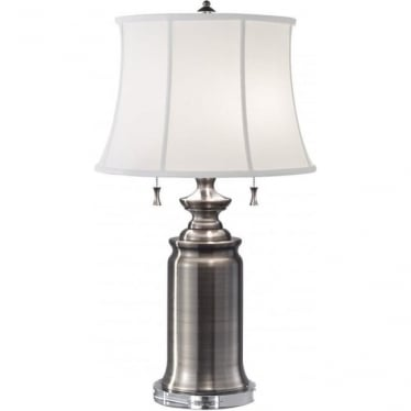 Stateroom Antique Nickel Table Lamp
