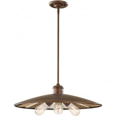 Urban Renewal Large 3 Light Pendant Astral Bronze