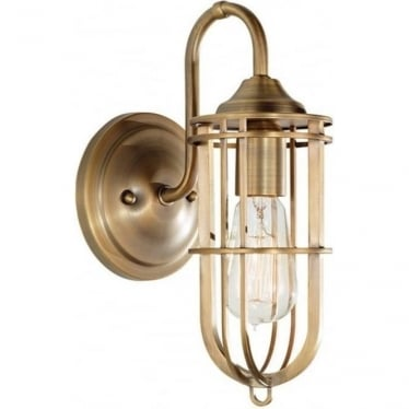 Urban Renewal Single Wall Light Dark Antique Brass
