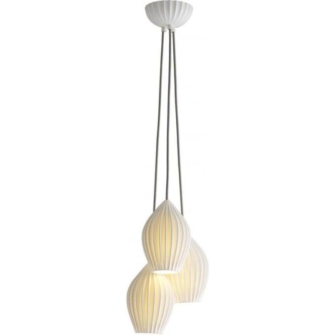 Original BTC Lighting Fin grouping of three pendant - Natural