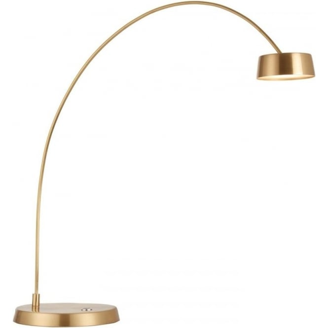 Endon Lighting Finch Touch Task table lamp - Brushed Gold & Frosted Acrylic