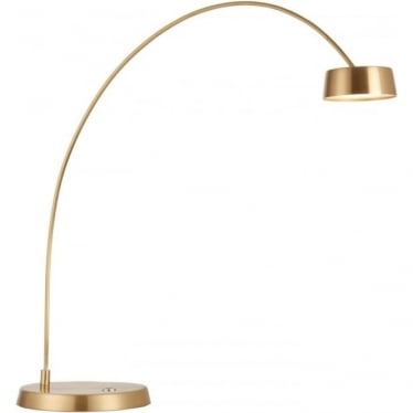 Finch Touch Task table lamp - Brushed Gold & Frosted Acrylic
