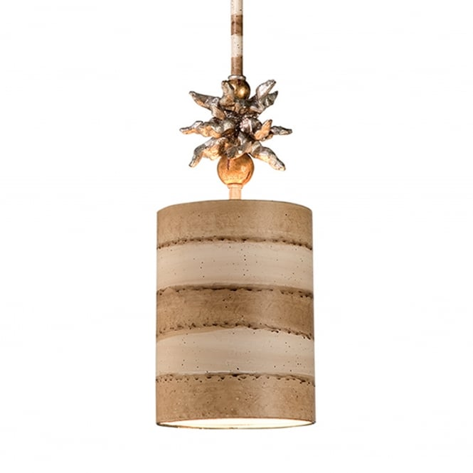 Flambeau Anemone Single Light Pendant - Gold Leaf/Putty/Cream