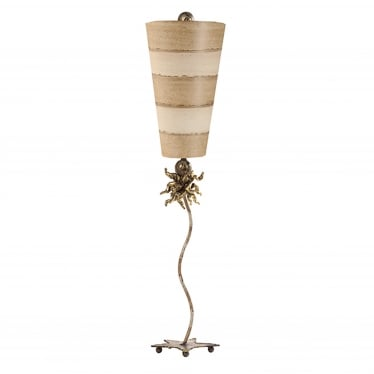 Anemone Single Light Table Lamp - Gold Leaf/Putty/Cream