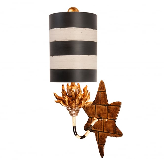 Flambeau Audubon Single Light Wall Sconce - Black/Tan