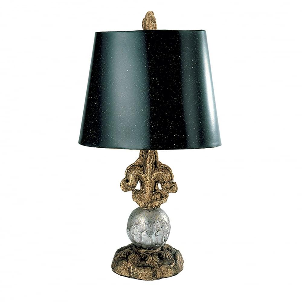 Fleur De Lis Table Lamp Gold Silver
