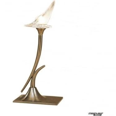 Flavia Single Light Table Lamp Antique Brass