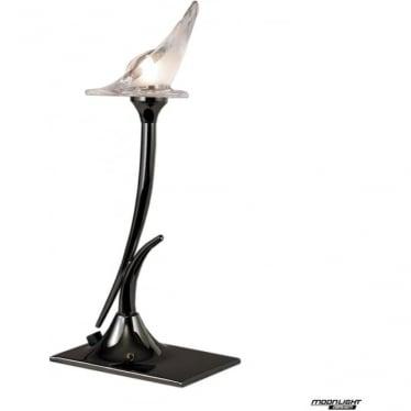 Flavia Single Light Table Lamp Black Chrome