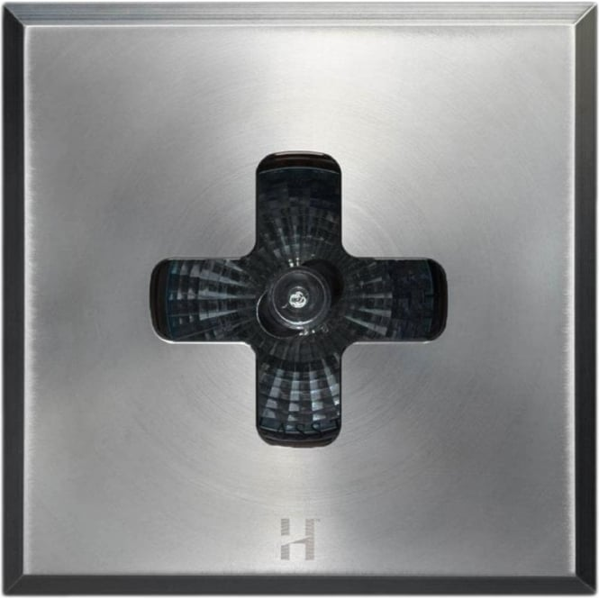 Hunza Outdoor Lighting Floor Light Dark Lighter Square Cross Design - stainless steel - Low Voltage