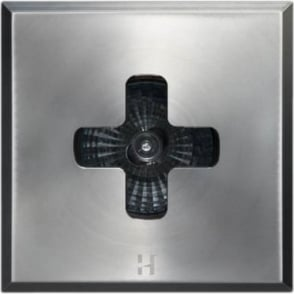Floor Light Dark Lighter Square Cross Design - stainless steel  - Low Voltage