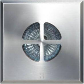 Floor Light Square Clover Design - stainless steel - Low Voltage