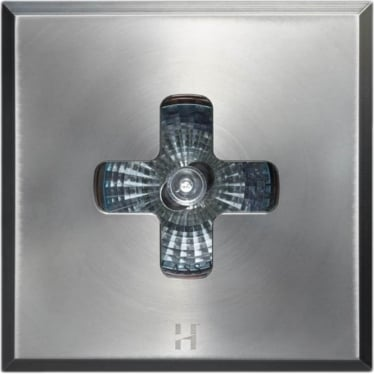 Floor Light Square Cross Design - stainless steel - Low Voltage