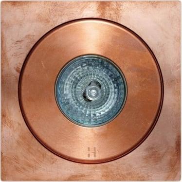 Flush Floor Light GU10  Square - copper- MAINS