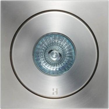 Flush Floor Light GU10 Square - stainless steel- MAINS
