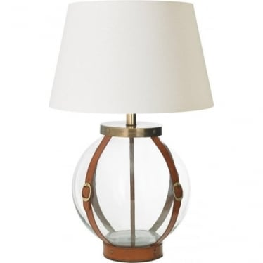 Forbes Table Lamp - Tan Leather - base only