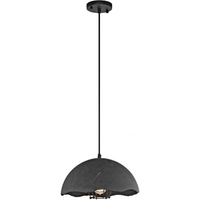 Kichler Fracture 1 light Pendant Weathered Zinc