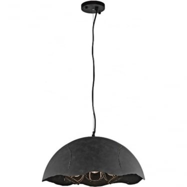 Fracture 3 light Pendant Weathered Zinc