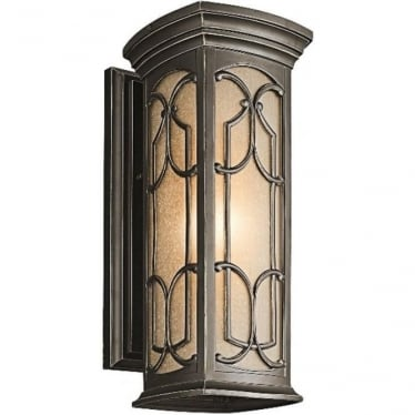 Franceasi Medium wall lantern - Bronze