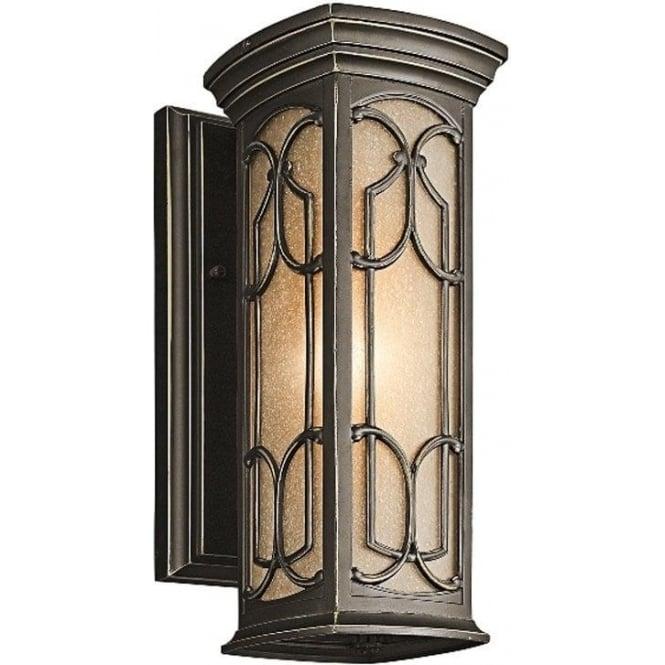 Kichler Franceasi small wall lantern - Bronze