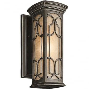 Franceasi small wall lantern - Bronze