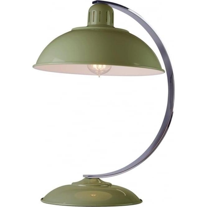 Elstead Lighting Franklin Green Table Lamp Polished Chrome
